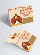创意火鸡感恩节祝福贺卡图片