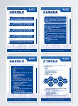 企业安全管理制度四件套挂画图片