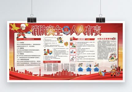 消防安全教育宣传展板图片