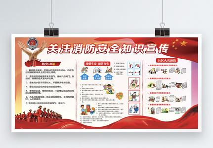 冬季消防安全知识宣传展板图片