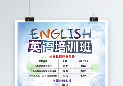 英语培训班海报图片