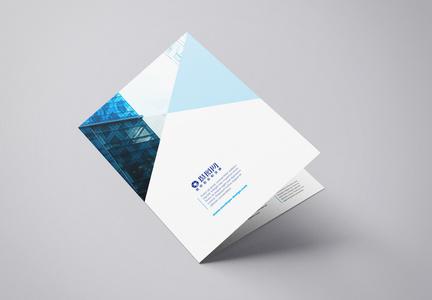 清新蓝色折页图片