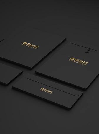 经典黑色烫金品牌样机展示