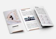 瑜伽馆宣传三折页图片
