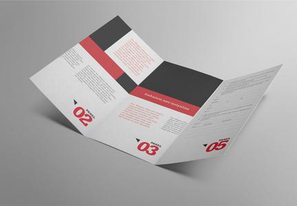 品牌介绍三折页样机图片