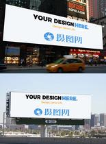 商场户外广告牌样机图片