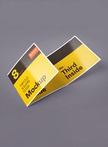 折页设计模版样机图片