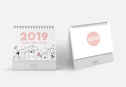 2019手绘动物台历图片