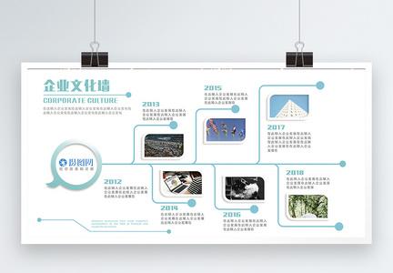 简约清新企业文化宣传展板图片