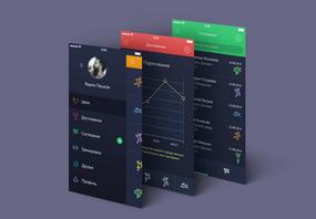 立体界面UI样机图片