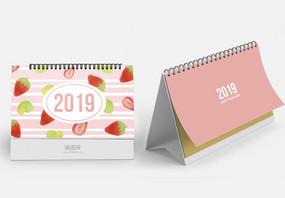 2019彩色手绘水果台历图片