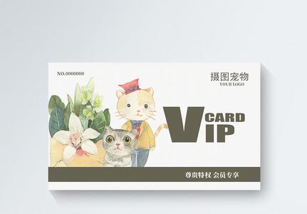 简约宠物店会员vip会员图片