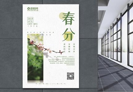 24节气清新风春分海报图片