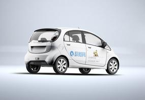 轿车宣传广告样机图片