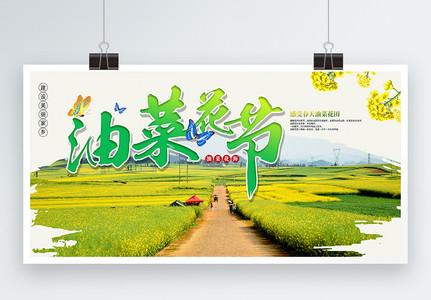 油菜花文化节展板图片
