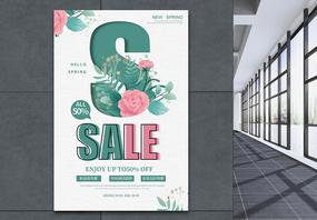 春季促销sale宣传海报图片
