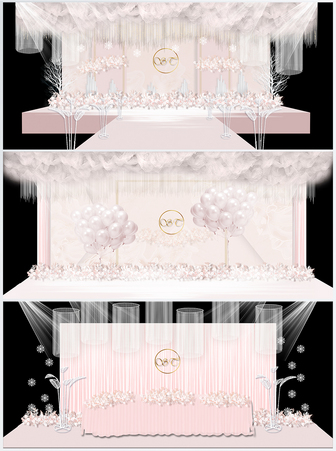 粉色婚礼现场效果图