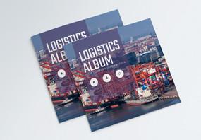 物流运输类宣传画册封面设计图片