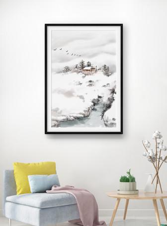 立冬客厅装饰画
