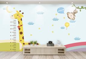 可爱萌趣儿童房电视背景墙图片
