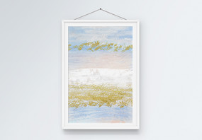 北欧风手绘创意抽象金箔金点装饰画图片