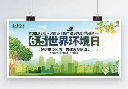 世界环境日保护生态环境共建美好家园宣传展板图片