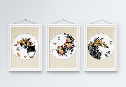 中国风水果装饰画图片