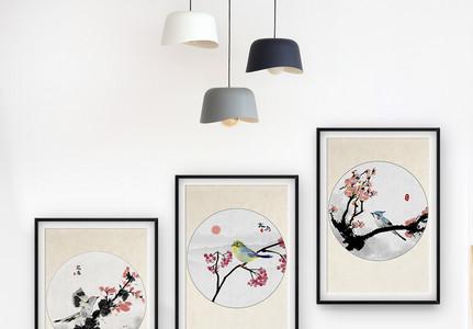 中国风小鸟装饰画图片