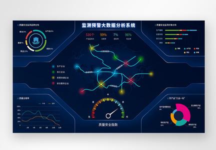 UI设计web监测预警大数据分析界面图片