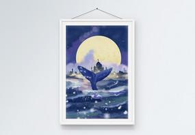 梦幻海之城装饰画图片