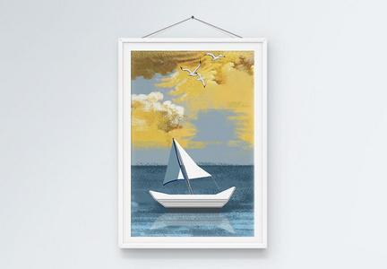 海景装饰画图片
