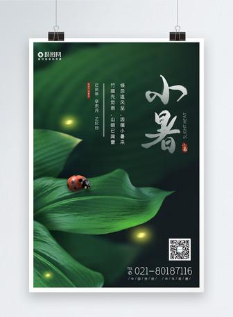 中国风小暑二十四节气海报