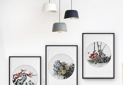 中国风花卉装饰画图片