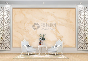 米黄色大理石背景墙图片