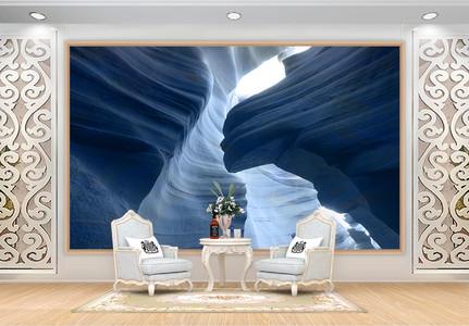 美国羚羊峡背景墙图片