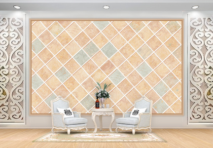 欧美风瓷砖背景墙图片