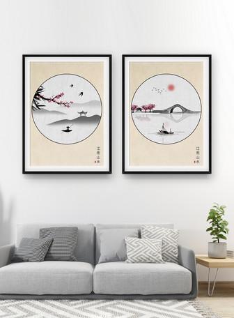 中国风江南山水装饰画