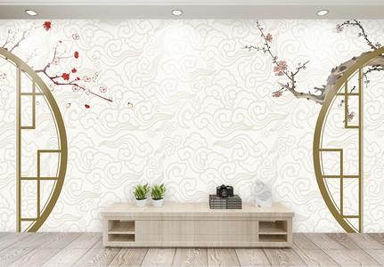中国风复古背景墙图片