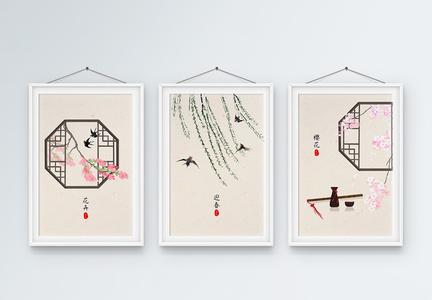新中式意境装饰画图片