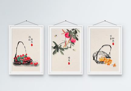 新中式简约装饰画图片