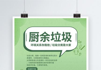 垃圾分类爱护环境系列海报之湿垃圾图片