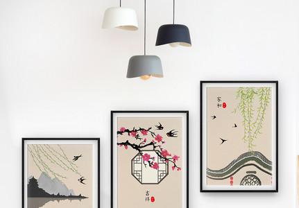 水墨中国风装饰画图片