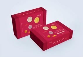 新品上市团圆中秋美味月饼包装盒图片