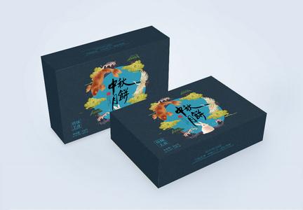 国潮中国风中秋月饼包装礼盒图片