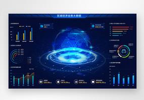 UI设计web城市经济业务分析可视化界面图片