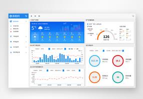 UI设计web监测预警大数据系统界面图片