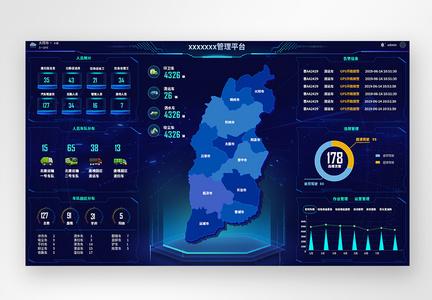 UI设计web端大屏数据可视化网页图片