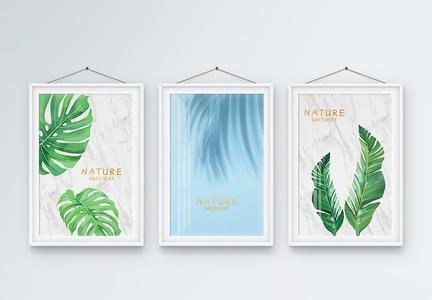 北欧热带植物装饰画图片