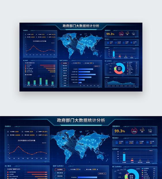 UI设计web政府部门大数据界面图片