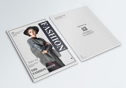 大气简约时装杂志画册封面图片